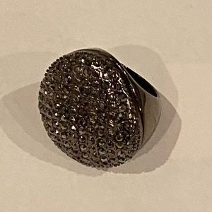 Jewelry - 🆕Platinum Crystal Cocktail Ring